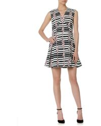 Suno Monochrome Block Stripes Dress - Lyst