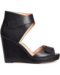 H&M Sandals With A Wedge Heel - Lyst