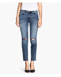 H&M Skinny Regular Ankle Jeans - Lyst