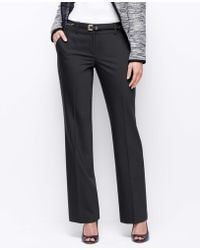 Ann Taylor Curvy Tropical Wool Trousers - Lyst