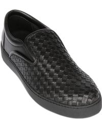 Bottega Veneta Hand Woven Nappa Leather Slip On Sneaker - Lyst