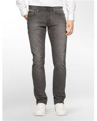Calvin Klein | Jeans Slim Leg Charcoal Wash Jeans | Lyst