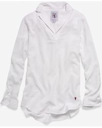 Cole Haan - Women's Pinch Long Sleeve Woven Popover Shirt - Lyst