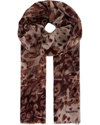 Max Mara Speckled Marble Scarf Red - Lyst
