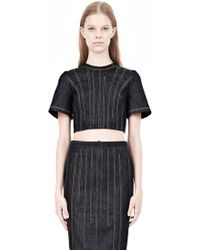 Alexander Wang Denim Cropped Top - Lyst