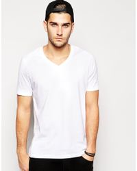 Asos T-Shirt With V Neck And Relaxed Fit - Lyst
