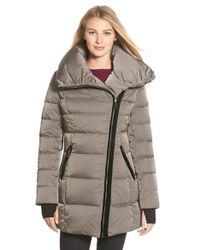 Vera Wang - 'blaire' Asymmetrical Quilted Coat - Lyst
