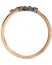 Stone Grace 18kt Rose Gold and 18kt Oxidised White Gold Ring with Diamonds - Lyst