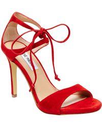 Steve Madden Semona Suede High-Heel Sandals - Lyst