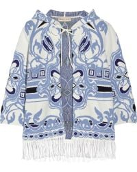 Emilio Pucci Fringed Cotton-blend Jacquard Coverup - Lyst
