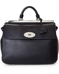 Mulberry Black Suffolk Handbag - Lyst