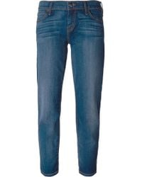 Koral Stone Washed Cropped Jeans - Lyst