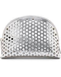 Loeffler Randall - Small Cosmetic Case - Silver - Lyst