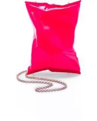 Anya Hindmarch Crisp Packet Clutch - Neon Pink pink - Lyst
