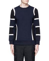 Neil Barrett | Colourblock Bonded Jersey Sweatshirt | Lyst