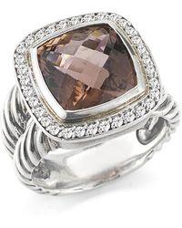 David Yurman Pre-owned Ss 11mm Pink Tourmaline Split Shank Ring - Lyst