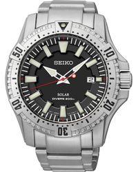 Seiko Men'S Solar Dive Stainless Steel Bracelet Watch 45Mm Sne279 - Lyst