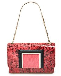 Jimmy Choo Alba Snakeskin Shoulder Bag - Lyst