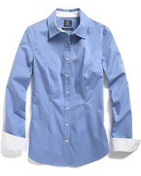 Tommy Hilfiger Stretch Sateen Solid Shirt - Lyst