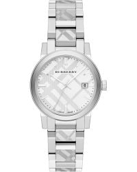 Burberry Stainless Steel Check Etched Bracelet Watch/34Mm - Lyst
