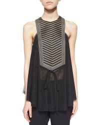Sass & Bide - Life Forced Embellished Trapeze Top - Lyst