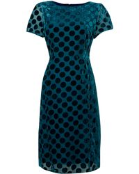 Dickins & Jones Ladies Spot Devore Dress - Lyst