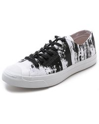 Converse Jack Purcell Painted Graphic Sneakers - Lyst