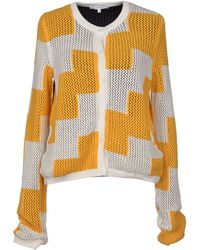 Carven Hair Net Knit Top yellow - Lyst