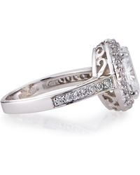 Fantasia Antique-Style Oval Cz Ring - Lyst