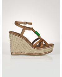 Ralph Lauren Leather Shana Espadrille - Lyst