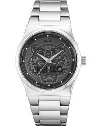 Kenzo Stainless Steel Tiger Head Watch - Lyst