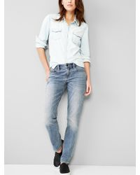 Gap Real Straight Jeans - Lyst