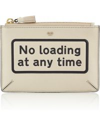 Anya Hindmarch   Silver No Loading Leather Clutch   Lyst