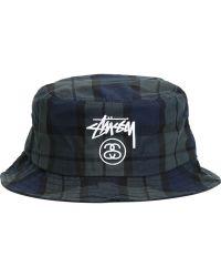 Stussy - Plaid Bucket Hat - Lyst 482d7b1754f3