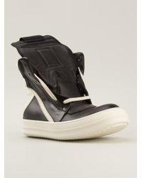 Rick Owens Laceless Hi-top Sneakers - Lyst