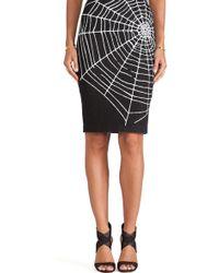 Love Moschino Black Web Skirt - Lyst