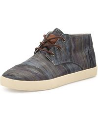 TOMS Paseo Printed Leather Mid Sneaker - Lyst