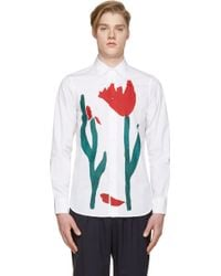 Marni White Painted Tulip Print Shirt - Lyst