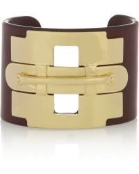 Tod's - Gold-tone and Leather Cuff - Lyst