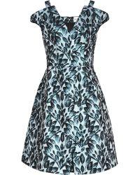 Reiss Marte Textured Floral Print Dress - Lyst