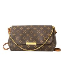 Louis Vuitton Favorite Mm Monogram Clutch / Bag, Golden Brass Hardware - Brown