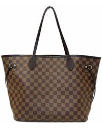 Louis Vuitton Neverfull Mm Damier Ebene Tote Shoulder Bag Brown