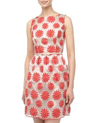 Muse Flower Embroidered Doupioni Dress - Lyst