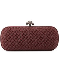 Bottega Veneta Woven Faille Large Knot Clutch Bag - Lyst
