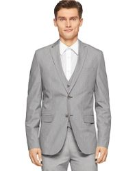 Calvin Klein Two-Button Suit Jacket gray - Lyst