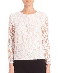 Diane von Furstenberg | Belle Embellished Lace Top | Lyst