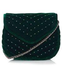 Topshop   Embellished Velvet Crossbody Bag   Lyst