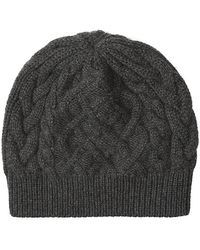 ab351565af4 Harrods - Cable Cashmere Beanie Hat - Lyst