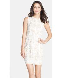 Cynthia Steffe 'Elenora' Lace Sheath Dress white - Lyst