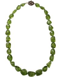 Victor Velyan - Peridot Bead Necklace - Lyst